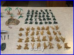 Marx Battleground Marine Beach-Head Play Set Box#4736