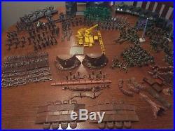 Marx Battleground Navarone Desert Fox Iwo Jima WWII Playset 1963 D-Day Invasion