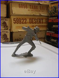 Marx Battleground Play Set 6 Stabbing Down German Figure Very Rare