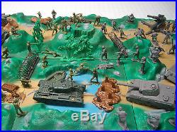Marx Battleground Play Set Huge Lot Over 100 Pieces