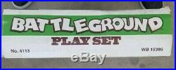 Marx Battleground Play Set With Paperwork & Instructions Never Been Set Up