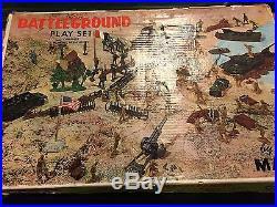 Marx Battleground Play set With Extras Box #4756