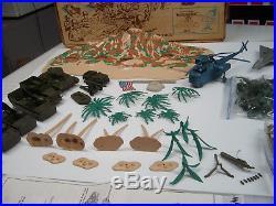 Marx Battleground, Playset Marine Beach-head 2000 4734 In Box