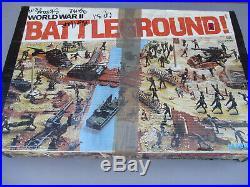 Marx Battleground World War 2 Playset Vintage Toy Soldier WW2 MPC Tank Cannon 70