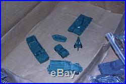 Marx Battleground play set with German tanks, motorcycle exploding house