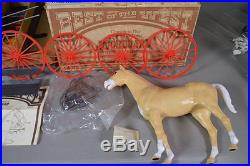 Marx Best of the West Buckboard with Horse, MINT IN BOX