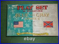 Marx Blue and Gray Miniature civil war Playset. RARE NEW OLD STOCK. 1960S
