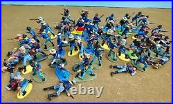 Marx/Britains Deetail 54mm custom playset Fort & 7th cav 54 painted figs usedoop