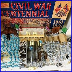 Marx CIVIL War Centennial Play Set- 1961-62 95% Complete In Box- Must See Set
