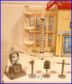 Marx Cape Canaveral Playset WithBuilding Figures Launchers Rockets and More Nice