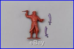 Marx Captain Gallant Playset Arabian Swords x2 Scimitar Purple Set