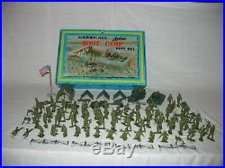 Marx Carry-All Boot Camp Action Play Set in Tin Case