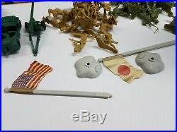 Marx Cereal Box Playset Storage Box 50 Pc Set 1970s Mint U. S. Vs Japan