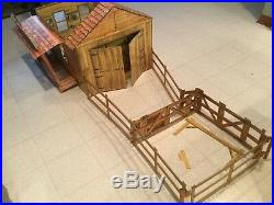 Marx Circle X Ranch Vintage Used Not Complete Playset Western Johnny West