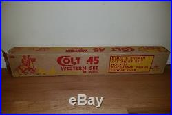 Marx Colt. 45 Western set playset EXTREMELY RARE WOW cowboys soldier gun toys