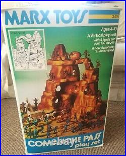 Marx Comanche Pass Playset #3416 100% Complete withBox, Comic Book & Instructions