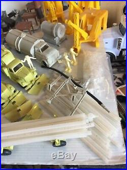 Marx Construction Camp Pipeline Play Set Lot Trucks Dozer Shovel Nice