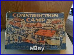 Marx Construction Camp Play Set with Original Box Inserts Vehicles & Accessories