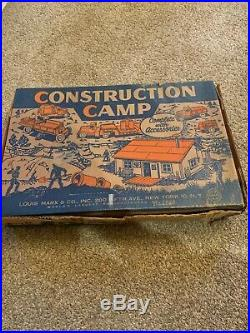 Marx Construction Camp Playset Very Good #4440 1954 set in Box