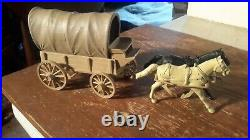 Marx Custer Fort Apache TAN WAGON withDARK TAN TOP Western PLAYSET