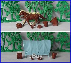 Marx Custer's Last Stand Covered Wagon withacc. (#4670 #6014) © 1963 (Excellent)