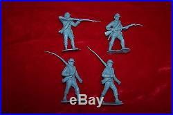 Marx, Custer's Last Stand. Reverse-color blue Confederate figures