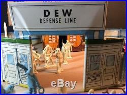 Marx DEW Defence Line Arctic Satellite Base 80 + Pieces IGY 60's