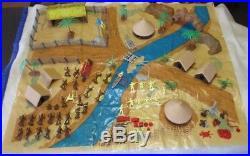 Marx Daktari Playset 1967 Mostly Complete Cream Figures Playmat Weapons Tin
