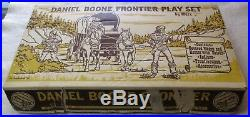 Marx Daniel Boone Frontier Large Box Complete Vintage 1965 Plastic Playset 1393
