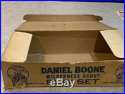 Marx Daniel Boone Wilderness Scout Play Set Box#2640