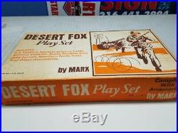 Marx Desert Fox Battleground Playset Original In Box 4178mo 100%