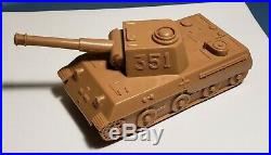 Marx Desert Fox Playset ROSE TAN German 351 Panther Tank #A