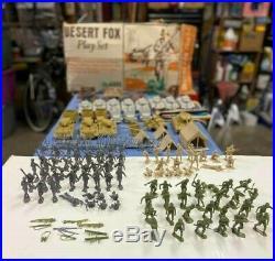 Marx Desert Fox Playset, great add to your Marx battleground, Guns of Navarone