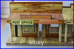 Marx Dodge City Silver Dollar Music Hall & Hotel Western Town Tin Litho 1950's