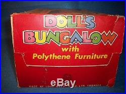Marx Doll's Bungalow playset made in Swansea England NEW IN THE BOX! RARE