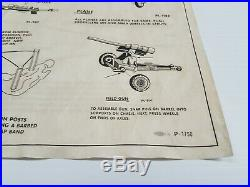 Marx European Battleground Instruction Sheet P-1750 Genuine Large Set