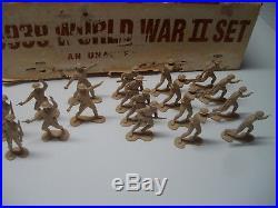 Marx European Battleground Playset 18 British 54mm Genuine Complete Rare