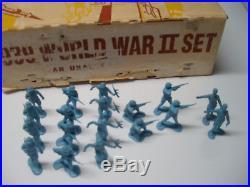 Marx European Battleground Playset 18 French 54mm Genuine Complete Rare