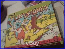 Marx Flintstones Hunting Party Rare Complete With Original Box 1961 Dinosaurs