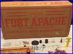 Marx Fort Apache Famous Americans With Both Wagons