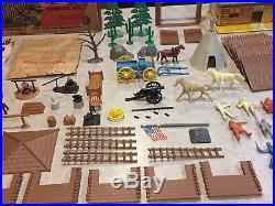 Marx Fort Apache Stockade & Box With Wagon