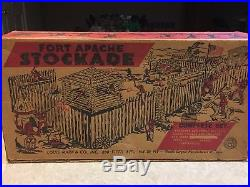 Marx Fort Apache Stockade Play Set With Box