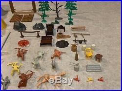 Marx Fort Apache Stockade Play Set With Box