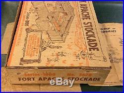 Marx Fort Apache Stockade Series 1000 Box #3678