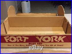 Marx Fort York Play Set Box#3640 (Canada set Very Rare)