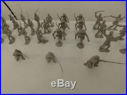 Marx Giant Blue Gray 47 Complete Set Minus 1 Marching Confederate Soldiers