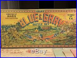 Marx Giant Blue & Gray Battle Set With Box