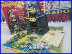Marx Giant Navarone Boxed Playset Complete 1977 Very Nice Condition #4302 Nice
