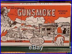 Marx Gunsmoke Play Set With Storage Box