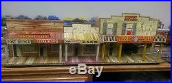 Marx HOTEL SIDE Western Town tin litho Roy Rogers Dodge Mineral City Gunsmoke